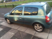 RENAULT CLIO 1.2 2005 11monthsMOT 67000 low millage