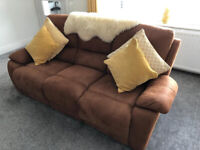 VG Brown Two Seater and Three Seater Recliner Sofas by Harveys