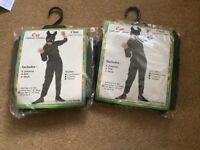 Two cat children's costumes-brand new, age 11-14