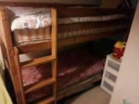 Bunk bed+2 FREE MATTRESSES