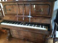 John Brinsmead walnut piano