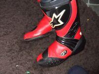 alpinestars boots size 43 /uk 9