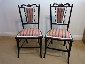 A pair of Hall or Bedroom chairs.