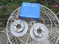 ATE Front Brake discs 410151 x 2 for VW Audi Seat see model list