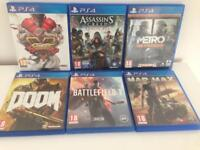 Selection of Sony PlayStation 4 Games (New & Used)