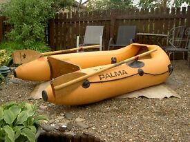 Metzeler Palma Inflatable Boat Dinghy with Oars and Wood Floor
