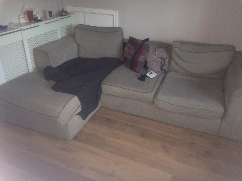 2 and 3 seater fabric sofa with chaise in carluke south for 2 seater chaise sofa for sale