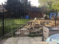 DESIDN WROUGHT IRON GATES PANELS AND POSTS THE HOLE SET
