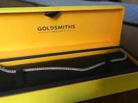 9 Carat white gold cubic zirconia bracelet