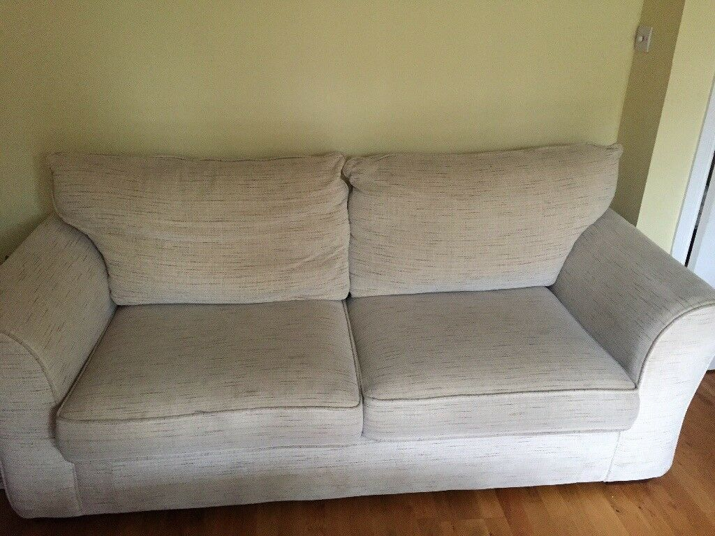 Sofa Bed And Two Chairs With Free Footstool In Monifieth