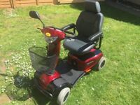 Invacare Auriga 10 Mobility Scooter, alarm new batteries
