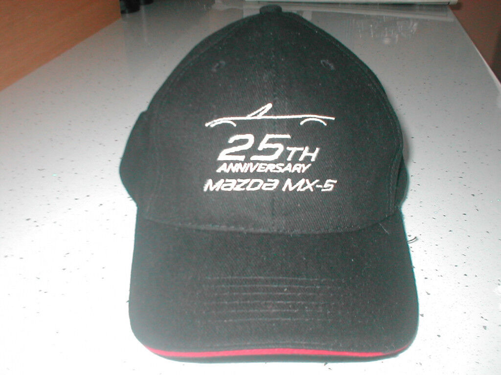 mazda mx-5 25th anniversary baseball cap.new.black.one size. £6.00 c64bd33bb55