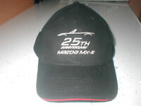 MAZDA MX-5 25TH ANNIVERSARY BASEBALL CAP.NEW.BLACK.ONE SIZE. £6.00