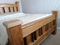 Stunning solid oak double bed frame