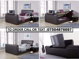 ROYALE TV BED FRAME AND 13 INCH MEMORY FOAM MATTRESS £450 - FREE AND FAST DELIVERY