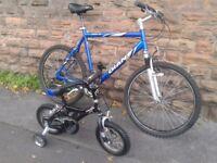 Bike SET Adults GIANT ROCK SE XL & Kids Baby GIANT Mountain Bike MINT