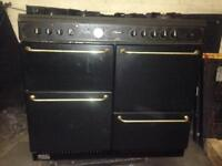 Large double oven gas electric LQQK hot point