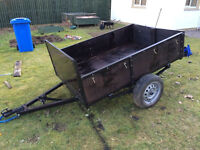 6x4 strong trailer with safety chain- newly sprayed and painted