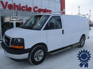2017 GMC Savana 2500 Cargo Van, Shelving Package & Ladder Rack