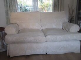 3+2 seater cream sofas, john lewis, washable covers--west moores -bh21 6sa