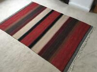 Red/natural striped rug