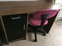 Computer desk plus chair
