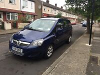 7 Seater Vauxhall Zafira 1.7cdti in excellent condition cctv, reverse sensors and new PCO licence