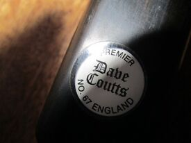 GENUINE DAVE COUTTS PREMIER ONE PIECE HAND MADE CUE.
