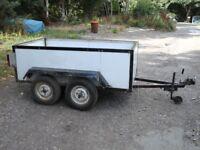 trailer twin wheel 6 foot x 3 foot 6 inch x 2 foot. 1 TON CAPACITY