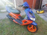 Peugeot Speedfight 2 100cc Blue and Orange