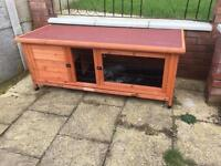 Large rabbit or guinea pig cage hutch