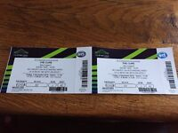 THE CURE - 2 tickets @ Wembley Friday October 2nd