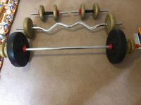 Dumbbells, Barbells and Weights Set - perfect for home workout