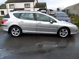 peugeot 407 sw automatic estate 2.0 hdi silver full mot