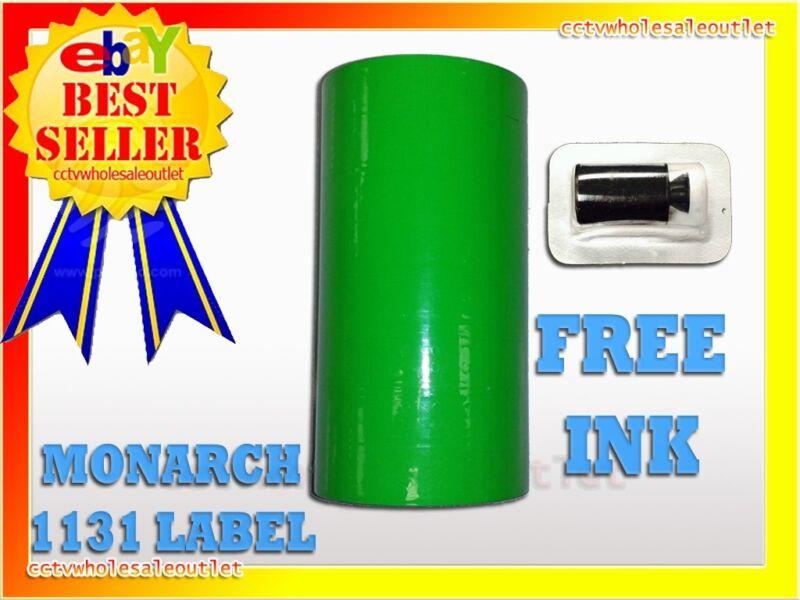 FLUORESCENT GREEN LABEL FOR MONARCH 1131 PRICING GUN 1 SLEEVE=8ROLLS