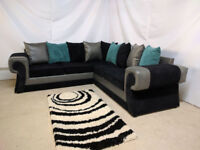 TANGO CORNER IN SNAKE GREY/BLACK SOFA | FOOTSTOOL | SWIVEL CHAIR | EXPRESS DELIVERY ALL UK