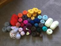 Mixed lot pure wool mohair yarn crochet knit craft approx 1.3kg