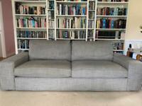 IKEA kivik grey fabric 3 seat sofa collection only
