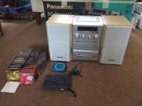 Panasonic hifi stereo system, plus personal minidisc player