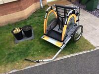 Halfords double bike trailer