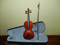 3/4 size Violin NEW boxed with Case, Bow + Roisin BNIB