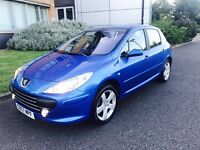 57 plate Peugeot 307 1.6 sport in stunning condition 1 owner full service history full leather