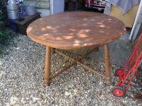 Solid Oak Dining Table - 4 feet diameter