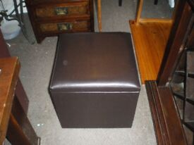 FAUX LEATHER STORAGE BOX/SEAT