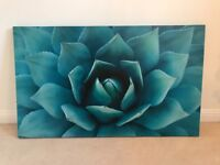 *REDUCED* Turquoise Blue Flower Canvas