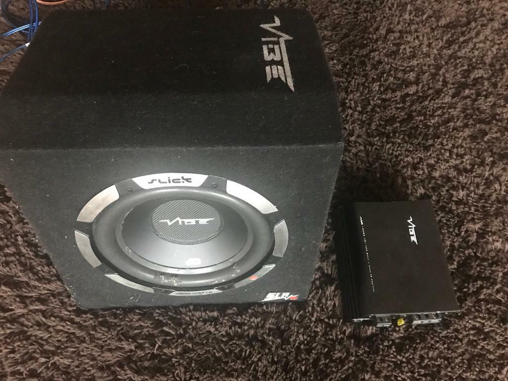 Vibe Space 15 1200 Watt Rms Stereo Kit 8 Gauge Amplifier Wiring 1500w Audio Images 10 Inch Slick Subwoofer With Amp