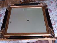 Decorative mirror with bevelled edge