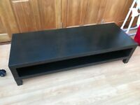 Black Ikea TV bench