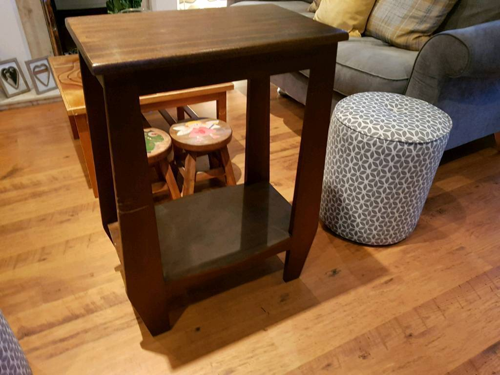 Vintage Retro Style Two Tier Side Table Hall Table Console