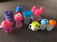 Various toddler drinking cups